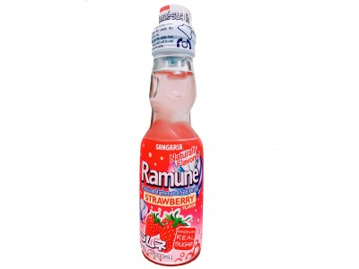 Sangaria Ramune  Japanese Carbonated Soda Strawberry Flavor 200ml